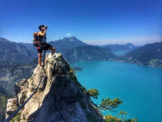 Klettersteig Mahdlgupf : Foto: attersee klettersteig mahdlgupf