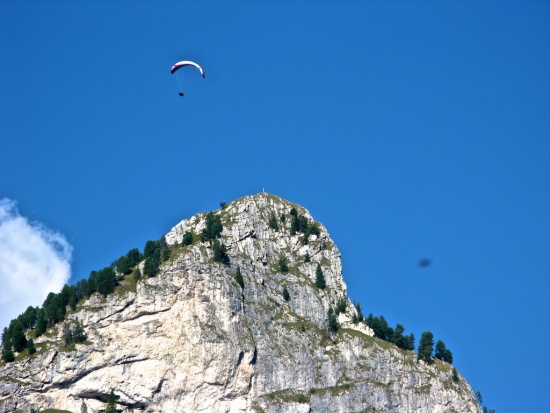 Paraglider am Rosengarten