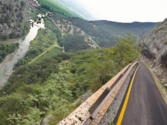Weg zur Cantina Toblino