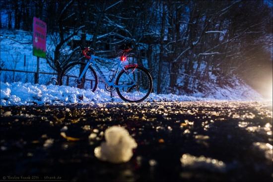 Winter night ride