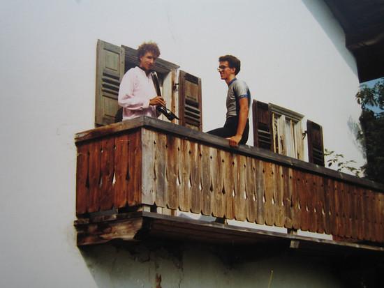 1984 mit neuem Wolber Neo Pro aufm Balkon