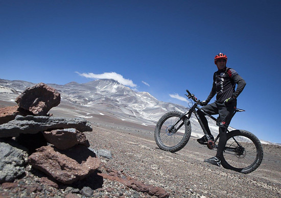 Mit dem Fatbike zum MTB-Höhenweltrekord in Chile.