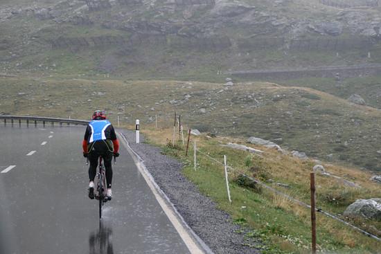 Rekordfahrt gegen Dauerrregen und Kälte.