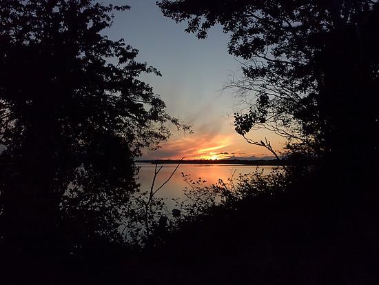 Sonnenaufgang über dem Strelasund