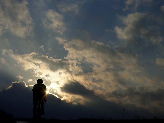 rider in the twilight