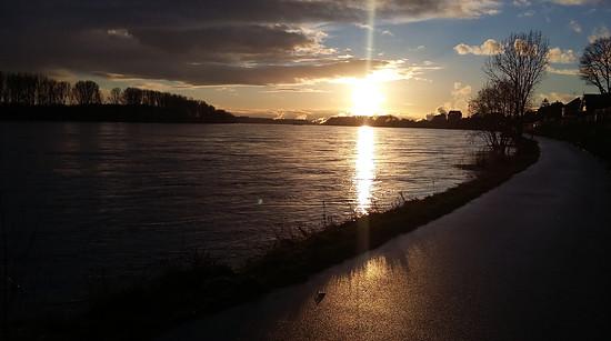Hochwasser in Köln-Weiß am 14.1