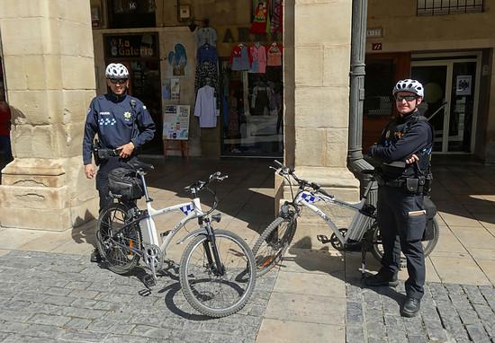 Pedelec-Cops in Logroño