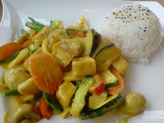 Hauptgericht beim Veggie-Chinesen