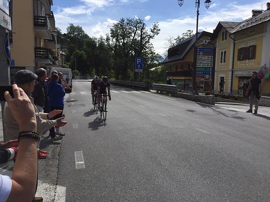Leading the break beim Alpe-Adria Giro, Villach