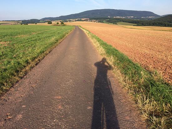Mit Wind und Sonne im Rücken
