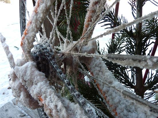 schnee/eis+schotterwüste salzburg - das waren 8 km radweg in der weltkulturerbse!