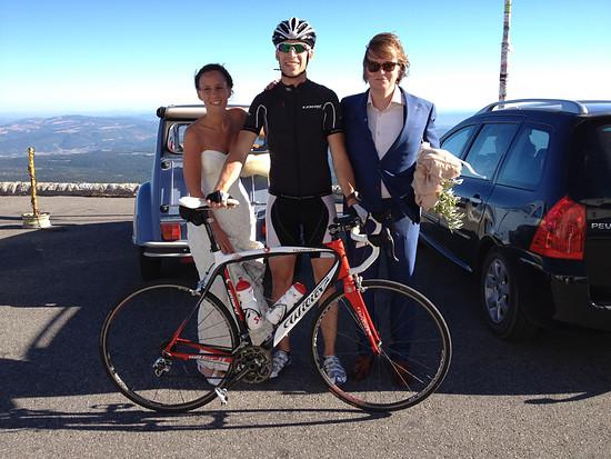 Nettes Bild mit Brautpaar auf dem Mont Ventoux 2012