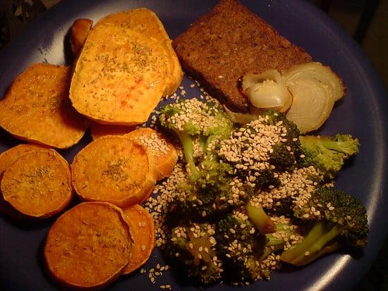 Tofubratstück, Ofensüßkartoffel und so