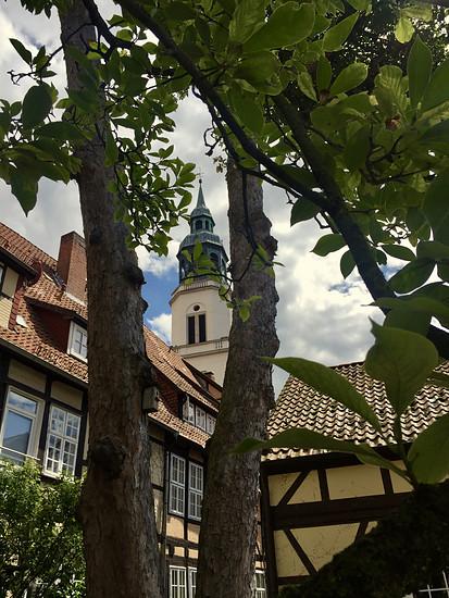 Stadtkirche Celle vom Hof der Ritterschaft aus