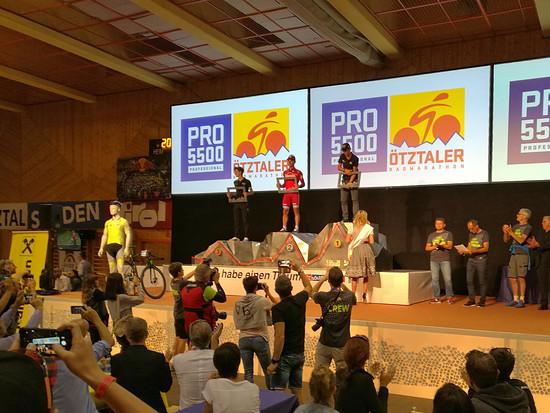 Siegerehrung Pro Ötztaler 5500
