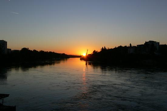 Von der kleinen Brücke Rheinfelden