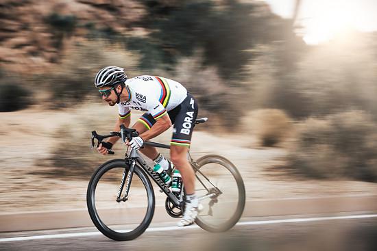 Sagan im Training in Kalifornien