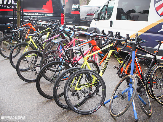 Radständer im US-Team-Camp