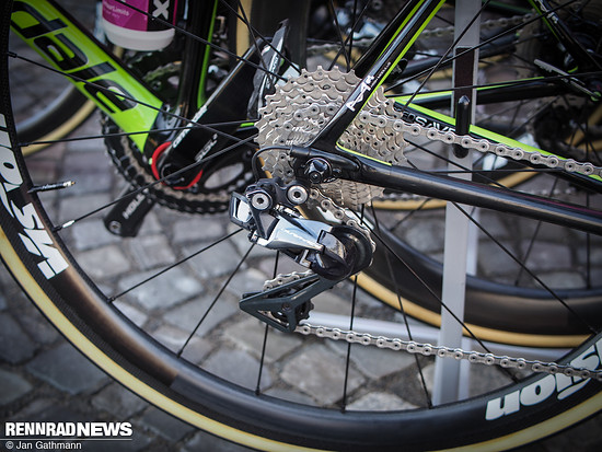 Dura Ace Di2 auch am Cannondale von EF First Drapac