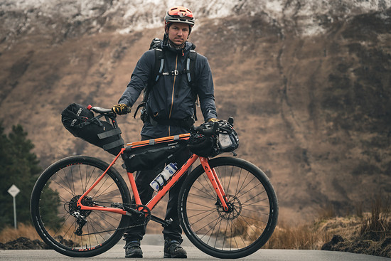 Ghost Fire Road Rage im Bikepacking Set-up