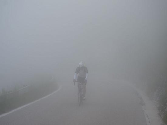 Nebel in der Gipfelregion Monte Grappa