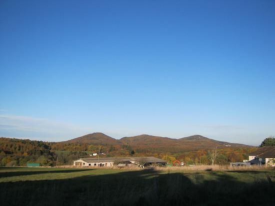 Morgensonne über dem Siebengebirge