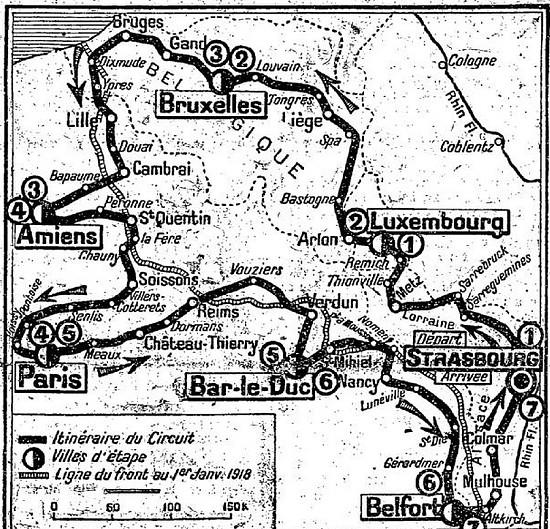 """Strecke des historischen """"Omloops"""""""