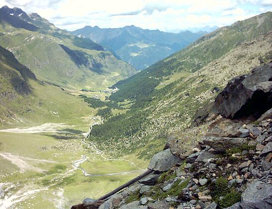 Aufstieg Eisjöchl 2002