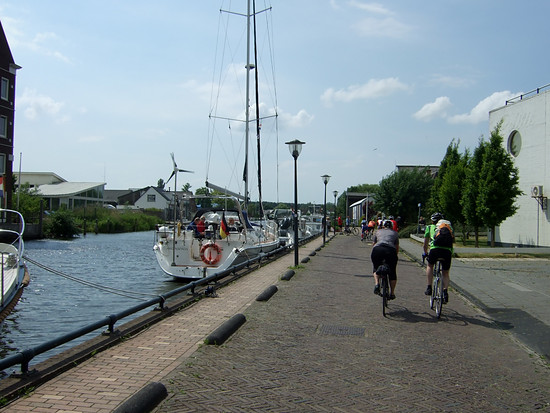 Fahrt am Sneeker Hafen vorbei 2017