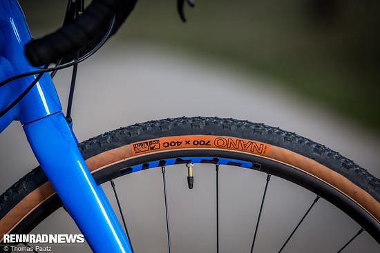 Der WTB Nano-Reifen prägt den Fahreindruck nachhaltig - im positiven Sinn