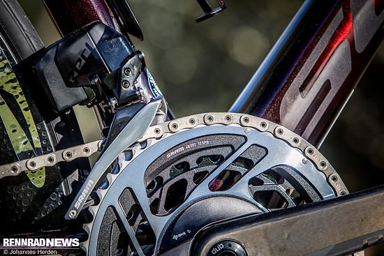 Man sieht, die 48-35 Kurbel ist für rennorientierte Räder eine Option