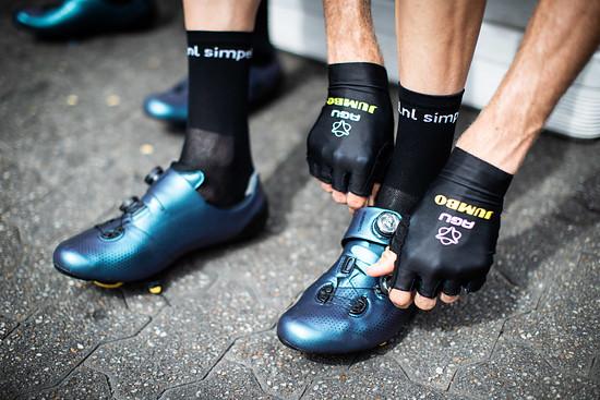 Team Jumbp Visma trug den limitierten Schuh bereits...