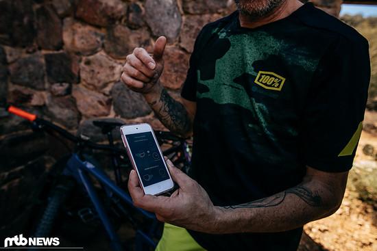 Über die AXS-App können alle AXS-Komponenten angesteuert werden - auch die der Mountainbike-Produkte
