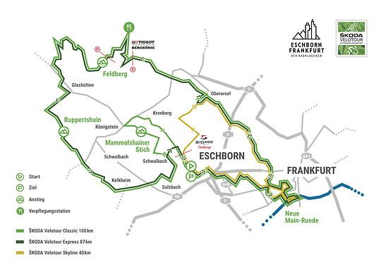 Die Strecken der Skoda Velotour