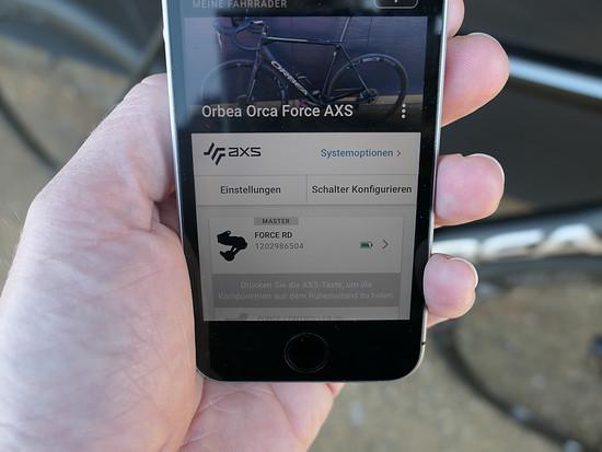 Mehrere Räder mit eigenen Konfigurationen lassen sich in der App speichern
