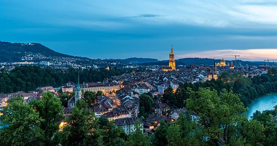 Blaue Stunde in Bern