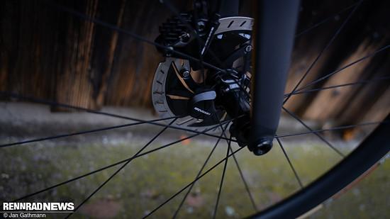 Der Radsensor zeichnet auf, sobald sich das Rad dreht