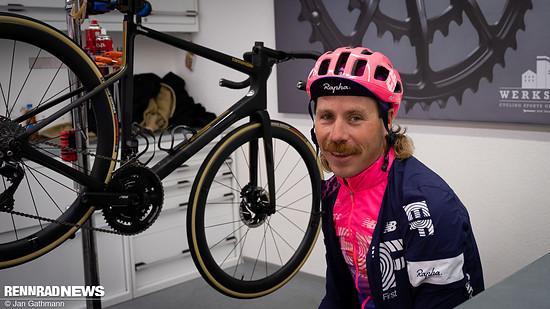 EF Profi Mitch Docker wird das Rad in der World Tour bewegen – er war gespannt auf die Testfahrt