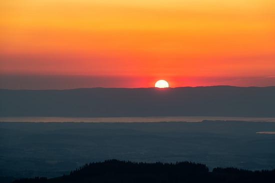 Sonnenuntergang überm Jura