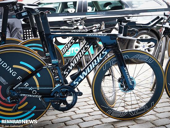 Specialized stellte bei der Tour de France 2019 das neue Shiv TT vor – hier das Bike von Peter Sagan