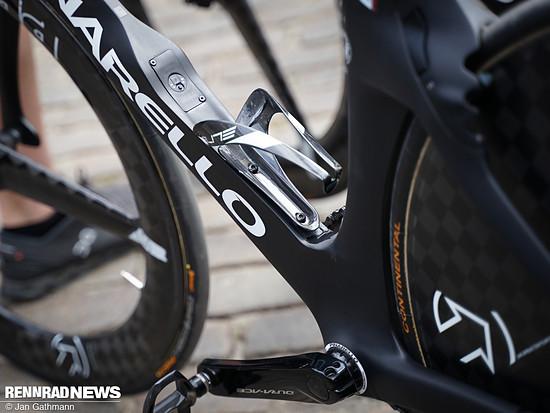 Rohrform an den Flaschenhalter angepasst - ein Standard bei den TT-Bikes