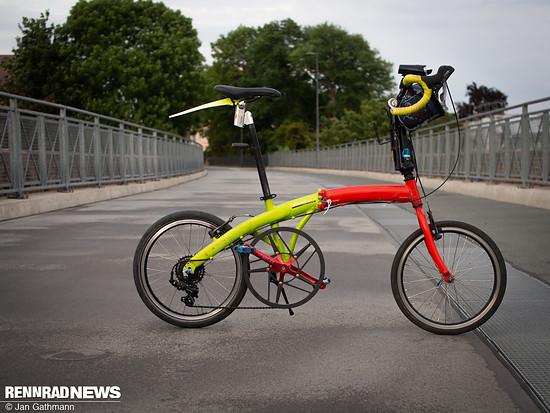 Das Faltrad für Paris-Brest-Paris. Kennzeichen: 80er Kettenblatt