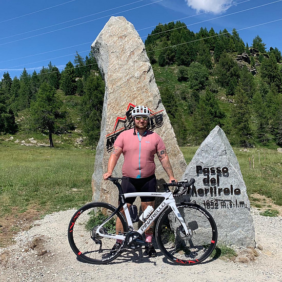 Big Boy on Mortirolo