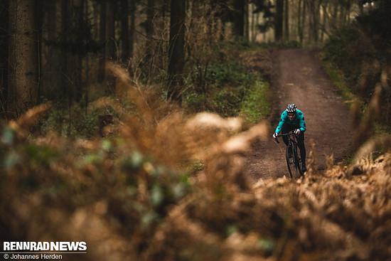 Waldwege und Schotterpisten, auf denen man es laufen lassen kann, sind die Domäne des Checkpoint