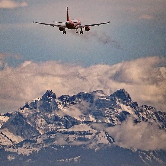 Landeanflug auf Zürich