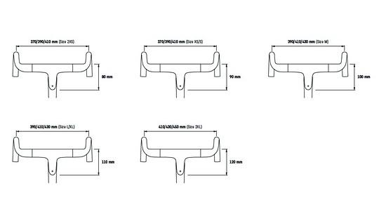 Wie gehabt wird das Aeroad je nach Rahmengröße mit verschiedenen Vorbaulängen ausgeliefert und mit dem Lenker in mittlerer Position