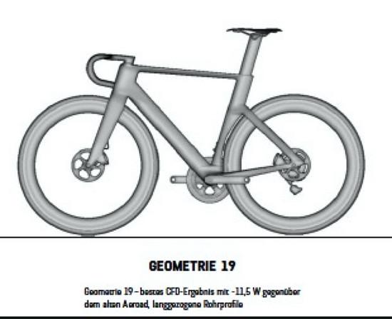 """Es gab noch eine radikaler aerodynamisch optimierte """"Geometrie 19"""""""