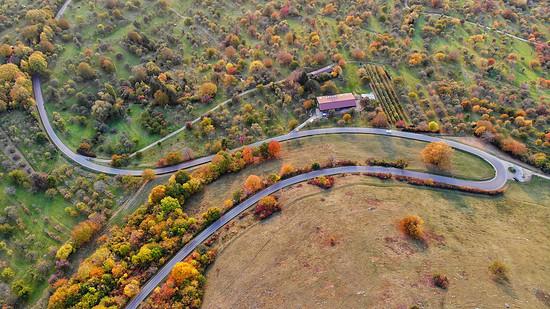 Herbststimmung unterhalb der Burg Teck