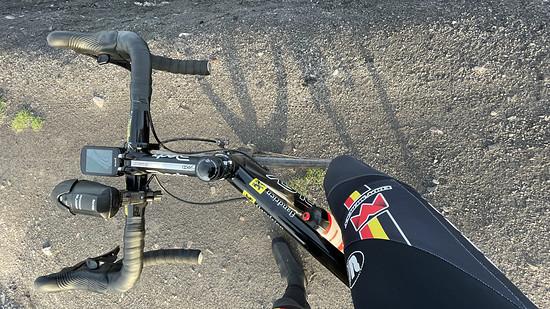Schotterfahrt mit Rennrad