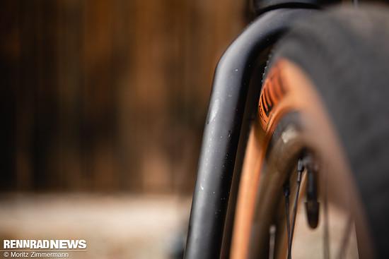Mit dem 45-mm-Reifen ist die Reifenfreiheit dem Papier nach ausgeschöpft